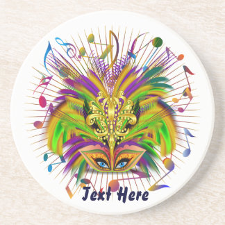 Mardi Gras Queen Style 3 View Notes Plse Beverage Coasters