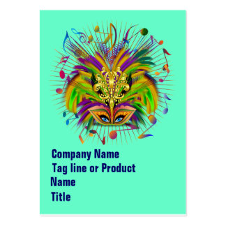 Mardi Gras Queen Style 3 View Notes Plse Business Card Template