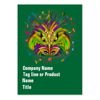 Mardi Gras Queen Style 3 View Notes Plse Large Business Cards (Pack Of 100)