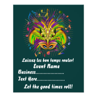 Mardi Gras Queen Style 3 View Notes Plse Full Color Flyer