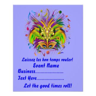 Mardi Gras Queen Style 3 View Notes Plse Flyer Design