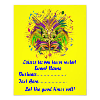 Mardi Gras Queen Style 3 View Notes Plse Personalized Flyer