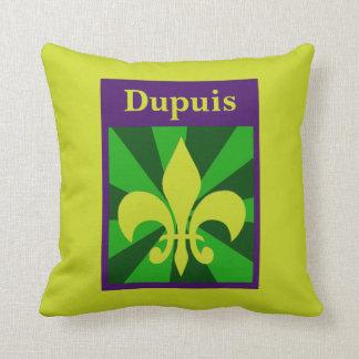 Mardi Gras Retro Styled Fleur de Lis Custom Pillow