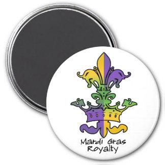 Mardi Gras Royalty 7.5 Cm Round Magnet