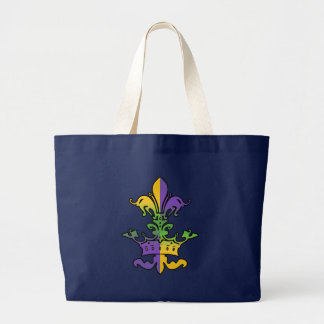 Mardi Gras Royalty Large Tote Bag