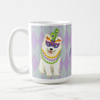 Mardi Gras Samoyed Coffee Mug