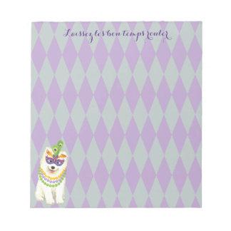 Mardi Gras Samoyed Notepad