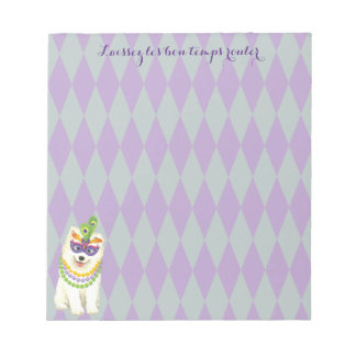 Mardi Gras Samoyed Notepads