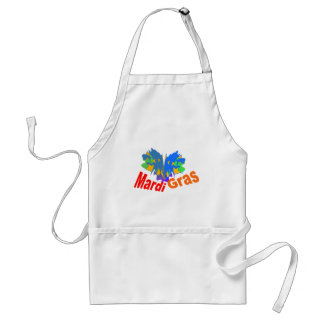 Mardi Gras Split Mask Adult Apron