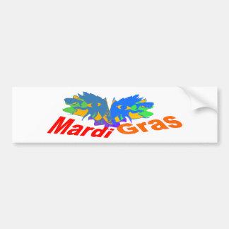 Mardi Gras Split Mask Bumper Sticker