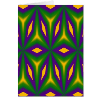 Mardi Gras Star 3598 Greeting Card