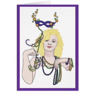 Mardi Gras Star Card