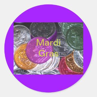 Mardi Gras Round Sticker