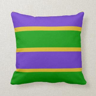 Mardi Gras Stripes Colors Cushion