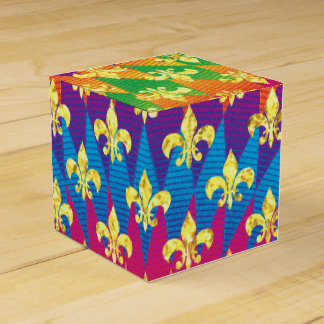 Mardi Gras Style Colorful Favour Box