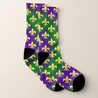 Mardi Gras Style Colorful Socks