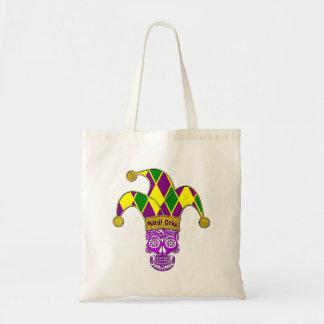 Mardi Gras Sugar Skull Jester Tote Bag