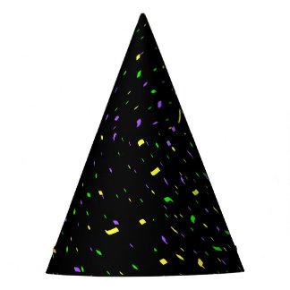 Mardi Gras Swirling Confetti Hat