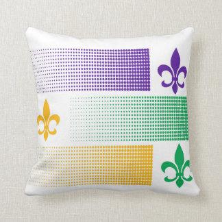 Mardi Gras themed pillow