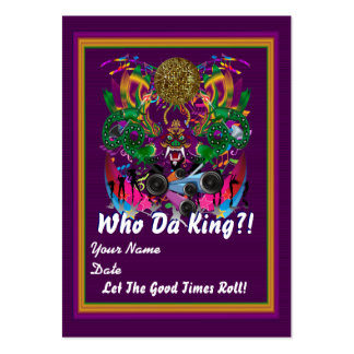 Mardi Gras Throw Card best view large View Notes Pack Of Chubby Business Cards