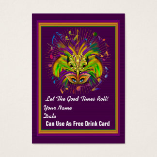 Mardi Gras Throw Card See notes