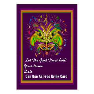 Mardi Gras Throw Card See notes Pack Of Chubby Business Cards