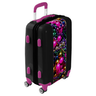 "Mardi Gras ""throws"" ROLLING CARRY ON Luggage"
