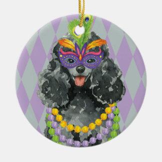 Mardi Gras Toy Poodle Christmas Ornament