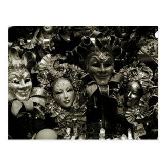 Mardi Gras Venice Carnival Mask Post Cards