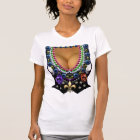 Mardi Gras Vest with Beads T-Shirt
