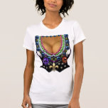 Mardi Gras Vest with Beads T-Shirt