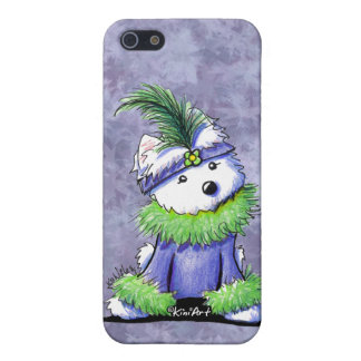 Mardi Gras Westie iPhone 5/5S Covers