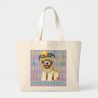 Mardi Gras Wheaten Large Tote Bag