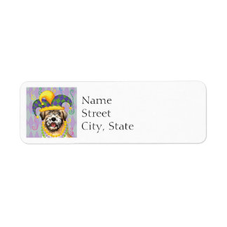 Mardi Gras Wheaten Return Address Label