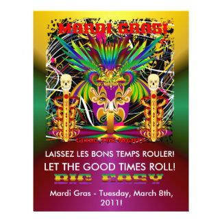 Mardi Gras Witch Doctor-Skull V-3-T Flyer Design