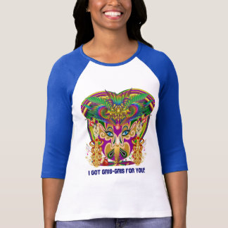 Mardi Gras Witch WOMEN LIGHT all style View Hints T-Shirt