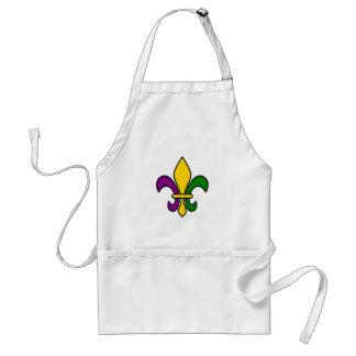 Mardi grass fleur-de-lys standard apron