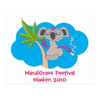 MardiGrass Festival Nimbin 2010 Postcard