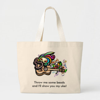 Mardis Gras Ukuleles Jumbo Tote Bag