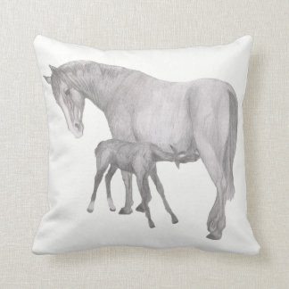 mare and foal cushion