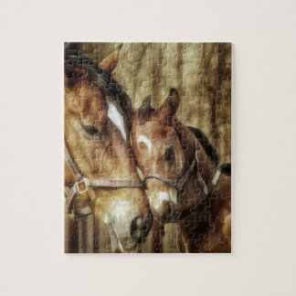 Mare and Foal - Horse Lovers Art Jigsaw Puzzle