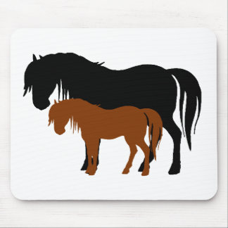 Mare & Colt Silhouettes Mouse Pad