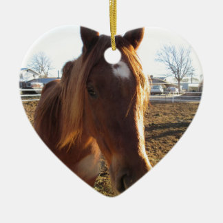 Mare Double-Sided Heart Ceramic Christmas Ornament