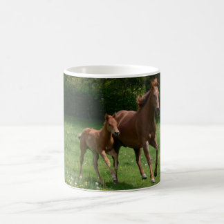 Mare & Foal Running Basic White Mug