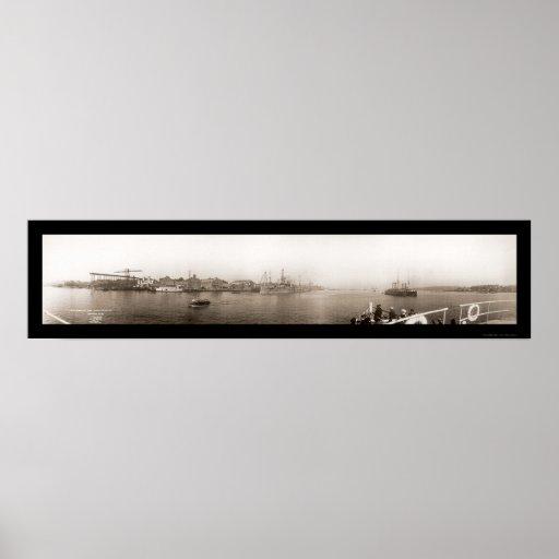 Mare Navy Yard Vallejo Photo 1911 Poster