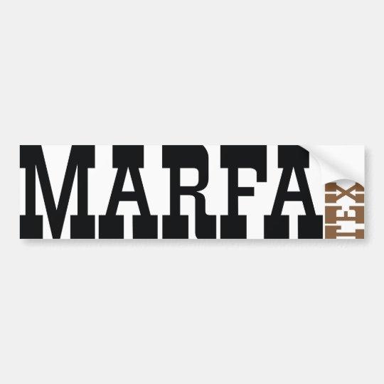 Marfa Texas Bumper Sticker