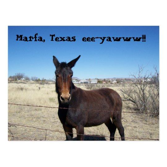 Marfa, Texas, eee-yawww!!! Postcard