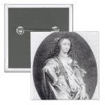 Margaret Cavendish, Duchess of Newcastle 15 Cm Square Badge