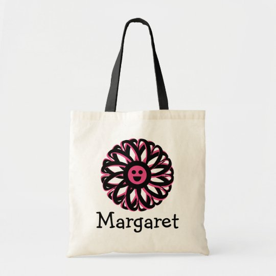 Margaret Happy Flower Personalised Tote Bag