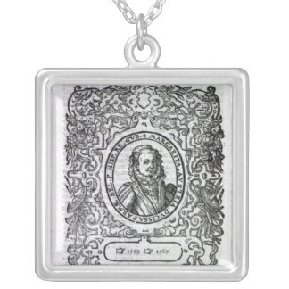Margaret of Parma, Governor of the Netherlands Silver Plated Necklace